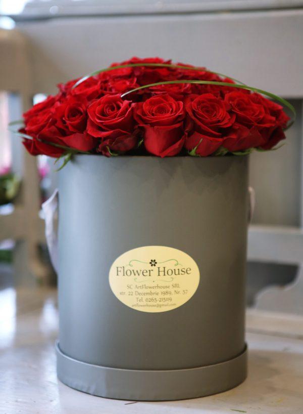 Cutie mare cu trandafiri