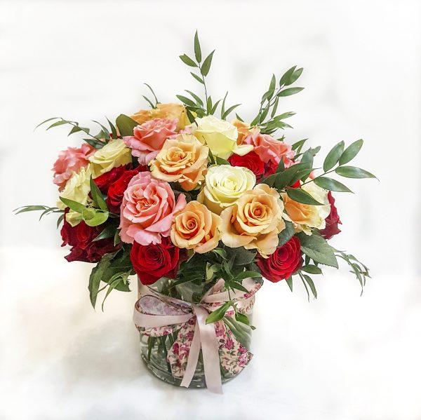 Trandafiri în vază