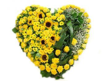 Inimă în nuanțe de galben