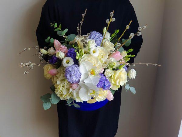 Cutie deluxe cu flori parfumate