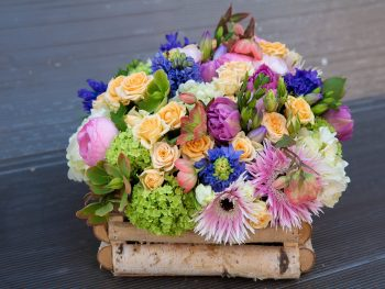 """Lădiță """"parfumată"""" cu flori"""