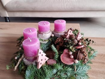 Coroniță Advent Pink-Pastel