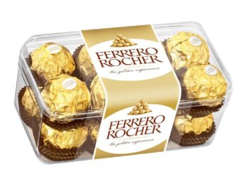 Bomboane cu ciocolată Ferrero Rocher în cutie