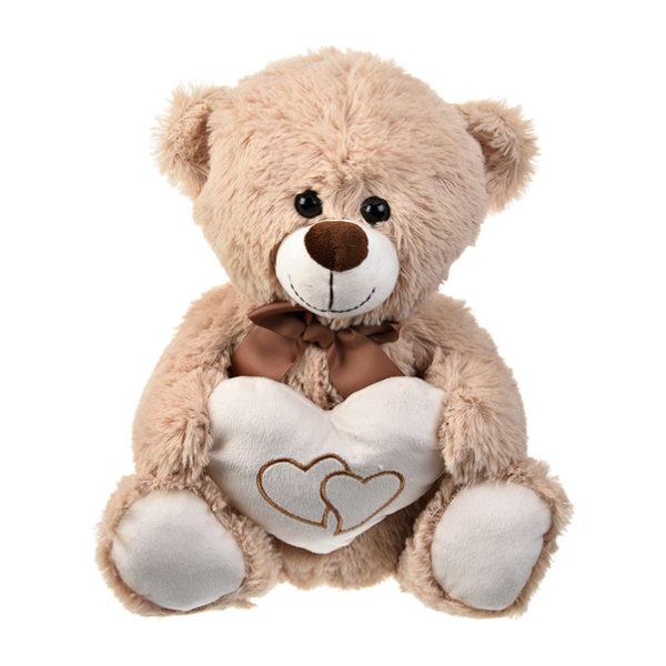 Ursuleț simpatic de pluș cu inimioară